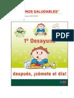 DESAYUNOSSALUDABLES 2014 PROYECTO