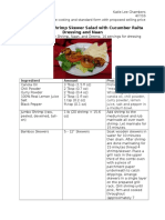 recipe cost and standard form
