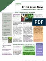 Bright Green Newsletter, February 2010 ~ UC Berkeley Office of Sustainability