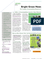 Bright Green Newsletter, January 2010 ~ UC Berkeley Office of Sustainability
