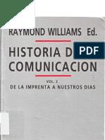 Historia de La Comunicacion Vol 2 Raymond Williams
