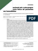 Avaliação Funcional Pré e Pós-programa de Exercício Físico de Pacientes Em Hemodiálise