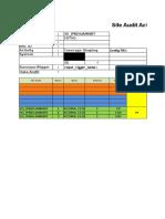 Sample Template Site Audit XL Axiata