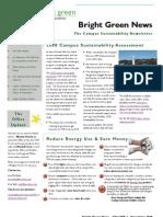 Bright Green Newsletter, November 2008