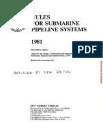 Submarine Pipeline (DNV 1981)