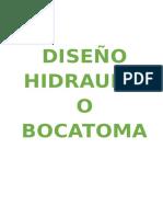 Informe Calculo Hidraulico Bocatoma