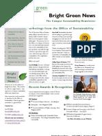 Bright Green Newsletter, October 2008