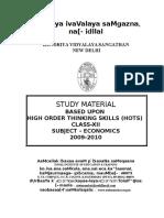 Study Material - Hots Questions Economics 2009-10