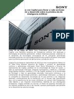 NP - Sony Une Fuerzas Con Cogitai Para Acciones Sobre Inteligencia Artificial