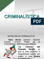 Criminalística. Clase 1