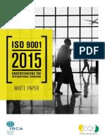 CQI IRCA ISO90012015 White Paper