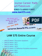 LAW 575 Course Career Path Begins Law575dotcom