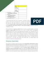 Tema Laboral - Tipos de Empresas