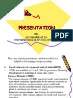 govt Suport By various instiutes