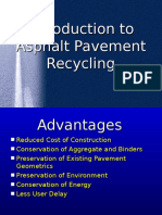 Recycling of Pavements