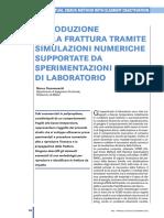 Riproduzione Della Frattura Tramite Simulazioni Numeriche Supportate Da Sperimentaizoni Di Laboratorio