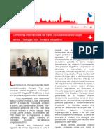 21, Maggio 2016 Berna, Incontro Partiti Socialisti Europei