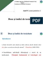 LP 2 - Doze Si Indici de Toxicitate