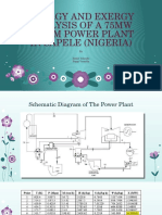 Energy and Exergy Analysis of a 75mw Ppt