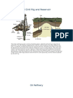 Oil Drill Rig and Reservoir