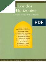 Claude Addas (Ed.) Los Dos Horizontes Textos Sobre Ibn Arabi