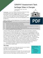 World Heritage Task Semester 1 2016