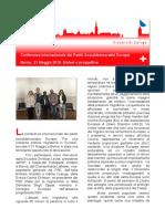 Berna, Incontro Partiti Socialdemocratici Europei. 21, Maggio 2016
