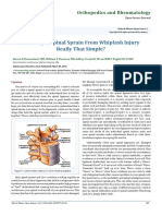 Is a Simple Spinal Sprain From Whiplash Injury Really That Simple?