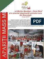 Atelierul Micilor Bucatari Coco Rico - Bucuresti 2016