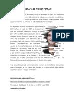 Biografía de Andrea Ferrari