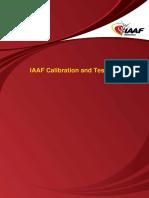 IAAF Calibration and Testing Manual