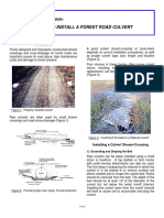 Forestry Note, How to Install a Forest Road Culvert