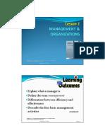 Lesson 1 - Managment Organizations
