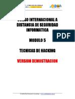 Curso Internacional Seguridad Informatica - Modulo 5