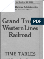 1918 Grand Trunk Timetable