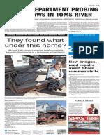 Asbury Park Press front page Thursday, May 26 2016