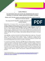 CARTA PÚBLICA INACEPTABLES DECLARACIONES DEL PRESIDENTE DEL BANCO MUNDIAL, SR. JIM KIM, SOBRE ASESINATO DE BERTA CÁCERES (08/05/2016)