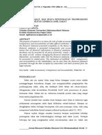Akuntansi Zakat Dan Upaya Peningkatan Transparansi Dan Akuntabilitas Amil Zakat