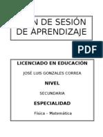 Clase Modelo de matemática 2010