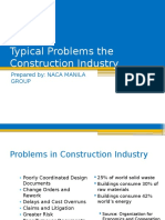 Typical Problems the Construction Industry