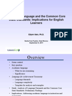 Academic Language and the Ccss Implications for English Learners 0c63d8a943