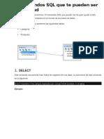 10 Comandos SQL Que Te Pueden Ser de Utilidad
