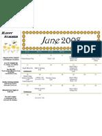 Calendar - June 2008