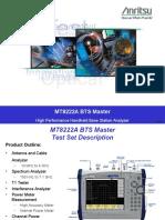 Anritsu BTS Master Training (MT8222A)