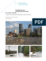 Best Practices for Reducing the Risk of Future Damage to Homes From Riverine and Urban Flooding - Kovacs, P. & Sandink, D. (Sept 2013)