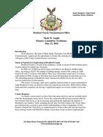 Finance Committee Testimony 5-13-2010