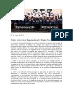 Carta abierta por crisis de la CIDH