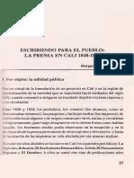 2. Escribiendo Para El Pueblo La Prensa Caleña 1848-1854 - Pacheco Margarita