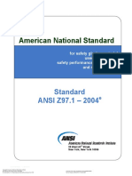ANSI Z97 1-2004 Safety Glazing