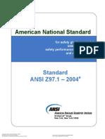 ANSI Z97 1-2004 Safety Glazing